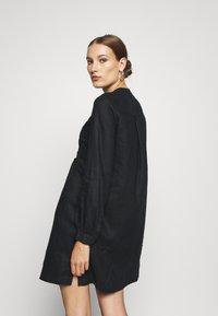 Benetton - DRESS - Skjortekjole - black - 2