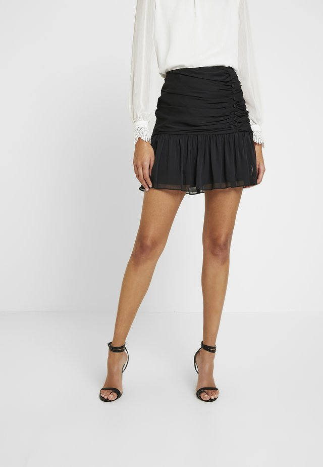 OLLIE RUCHED SKIRT - Gonna a campana - black