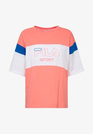 LALETTE TEE - T-shirt med print - shell pink/bright white/princess blue
