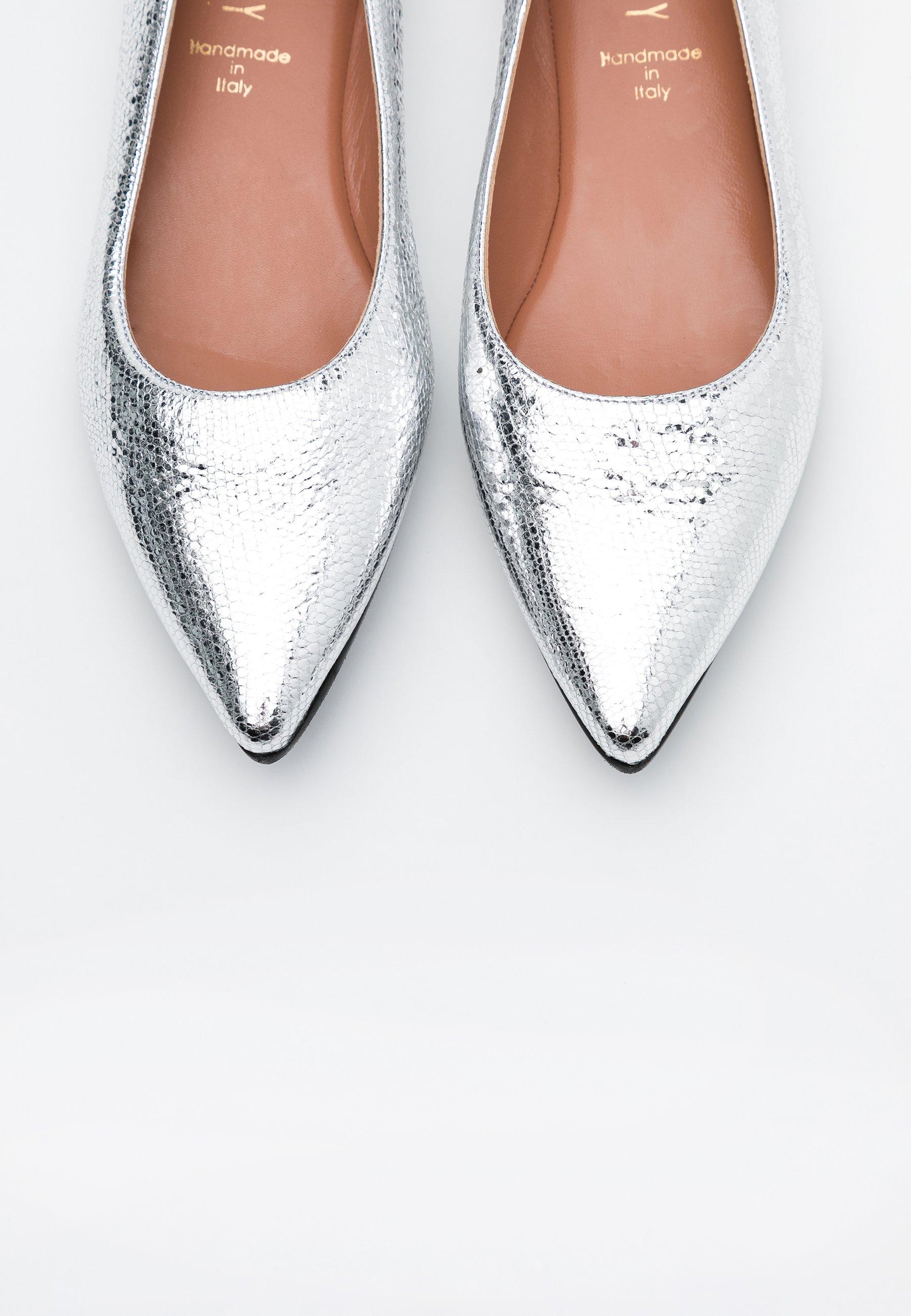 LIA Ballerinaskor glass silver