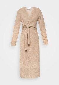 DESIGNERS REMIX - AVA WRAP DRESS - Jumper dress - camel - 5
