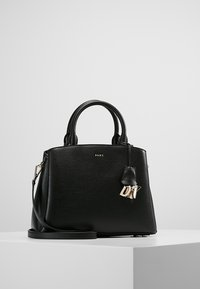 DKNY - MEDIUM SATCHEL - Handbag - black/gold - 0