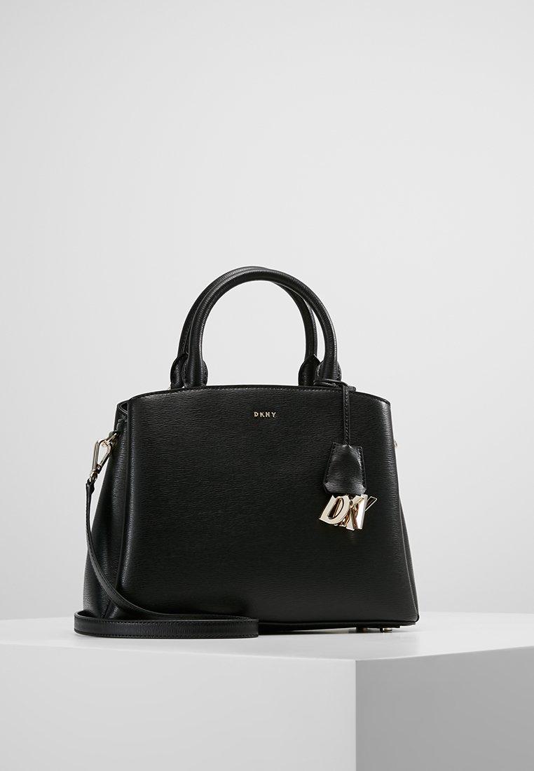 DKNY - MEDIUM SATCHEL - Handbag - black/gold