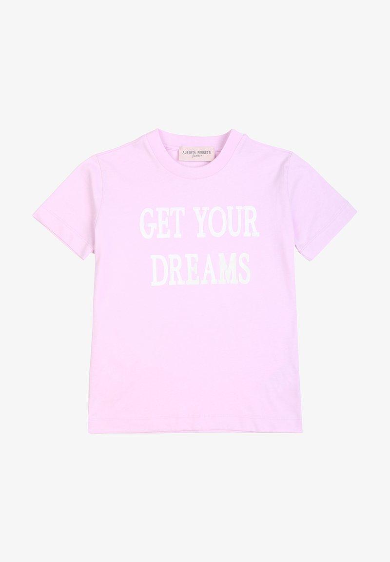 Alberta Ferretti - ALBERTA FERRETTI - T-shirt con stampa - rosa