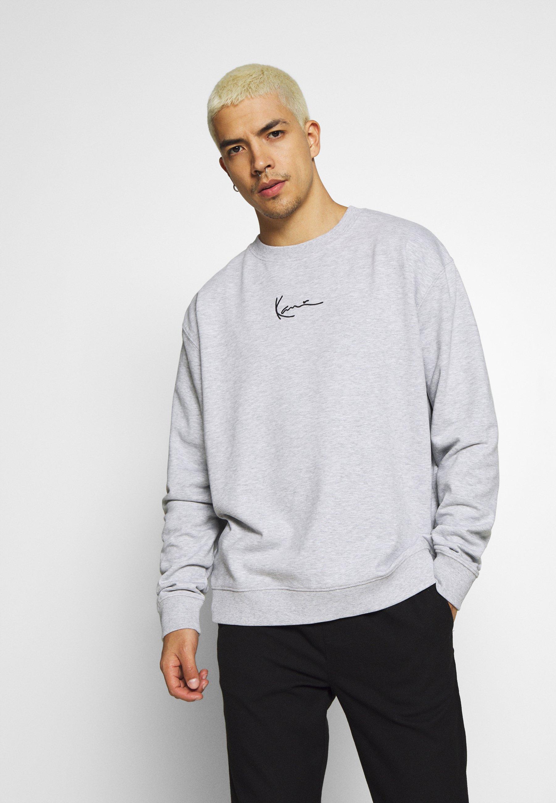 Karl Kani SIGNATURE CREW - Sweater - grey/black  Heren Truien & vesten nssKL