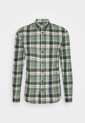 CHECK SHIRT - Shirt - army/black