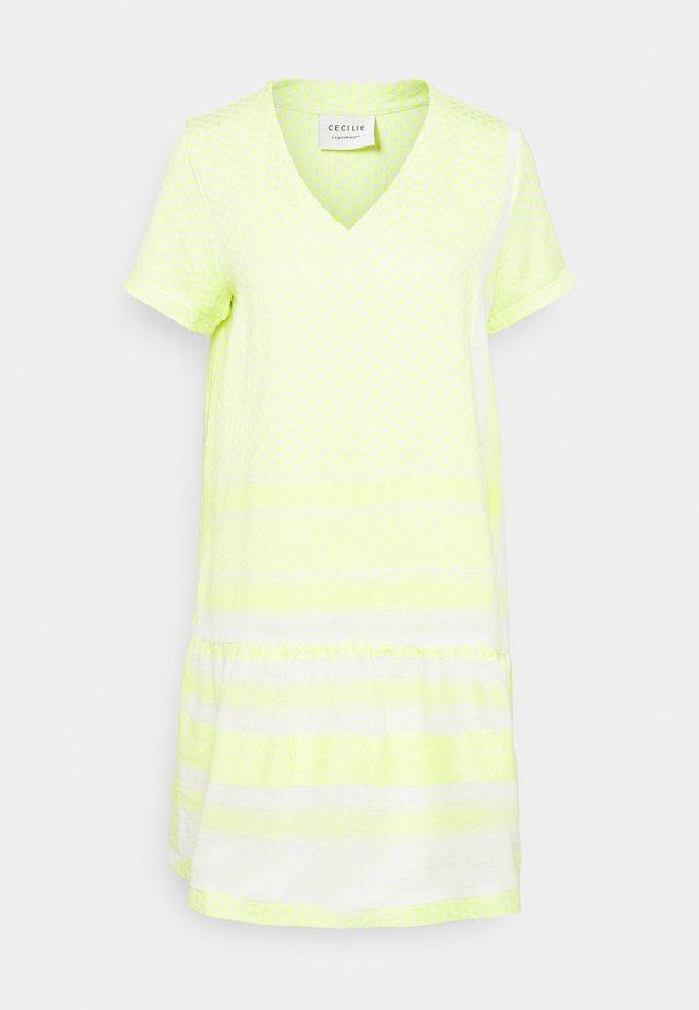 DRESS - Day dress - avocado green