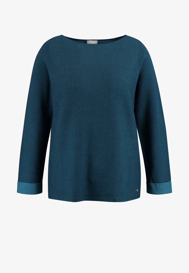 LANGARM RUNDHALS  - Long sleeved top - legion blue gemustert