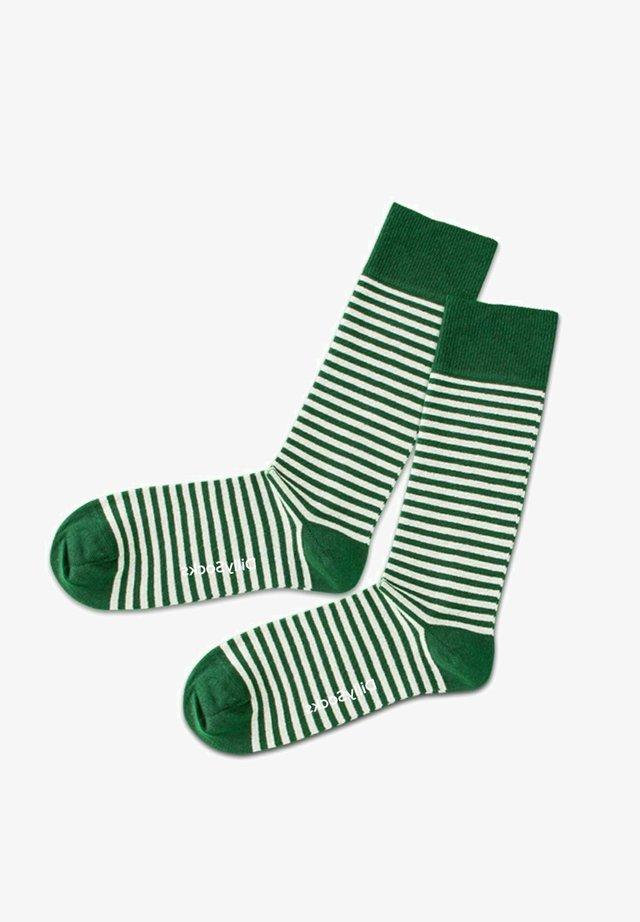 Strumpor - dark green white