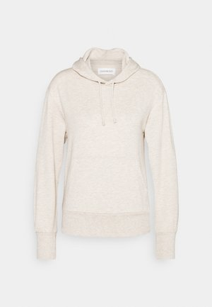 REGULAR FIT HOODIE WITH FRONT POCKET - Jersey con capucha - beige