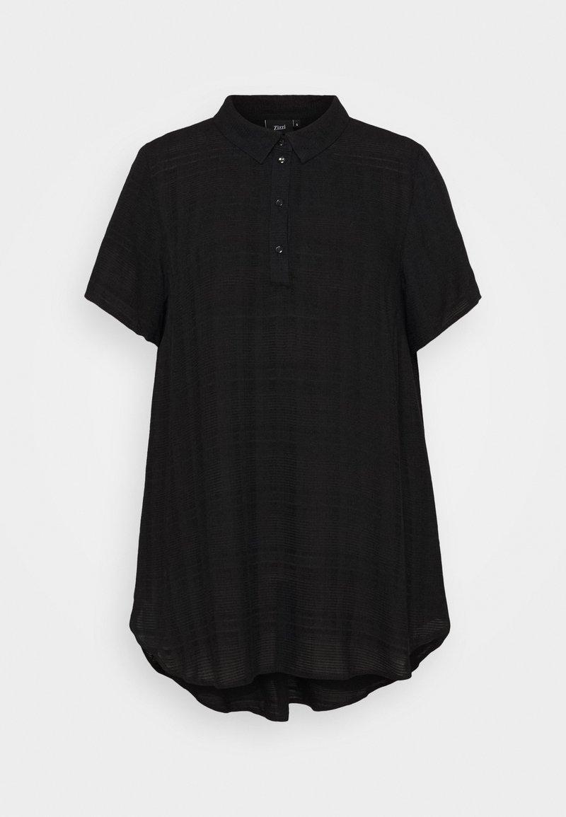 Zizzi - EBALLAN TUNIC - Blouse - black