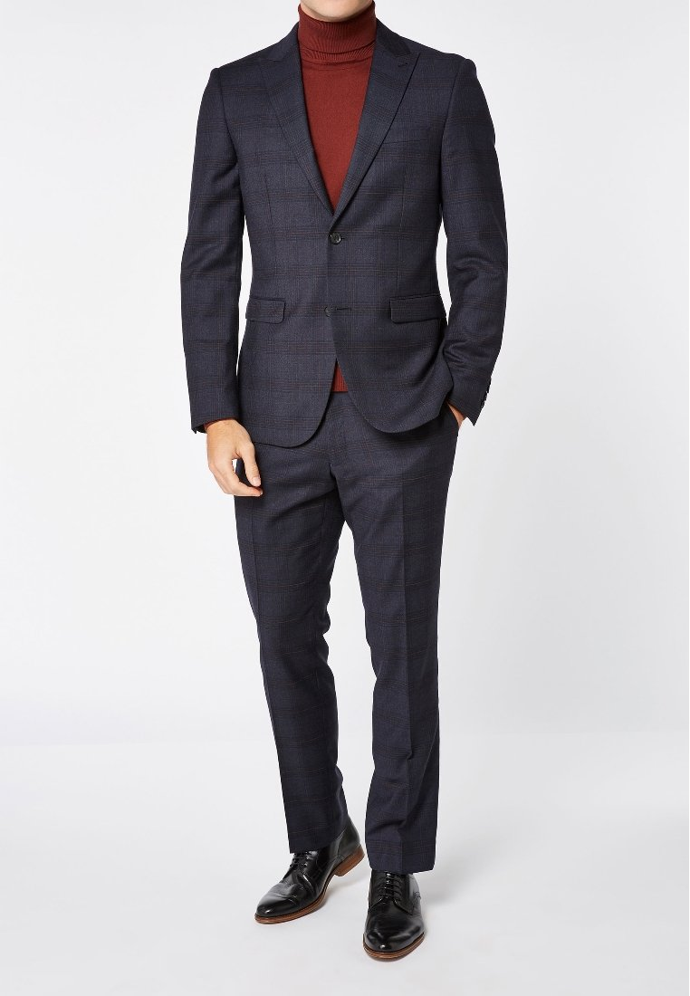 Homme SIGNATURE CHECK SLIM FIT SUIT: TROUSERS - Pantalon de costume