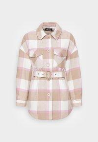 PCSELMA OVERSHIRT JACKET - Summer jacket - whitecap graychecks/lilac chiffon/warm taupe