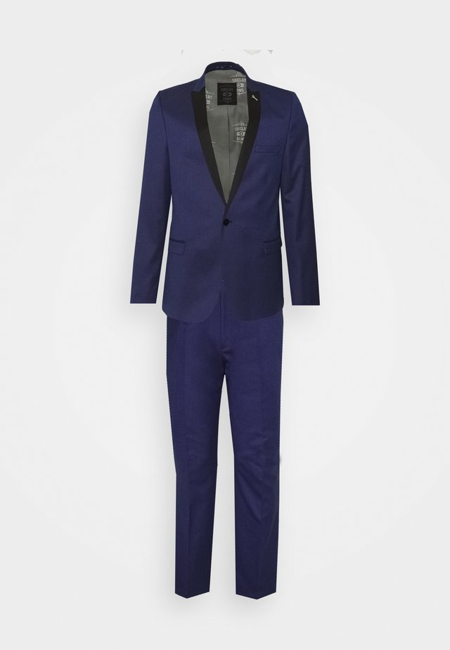 COFTON TUXEDO SUIT  - Dress - navy
