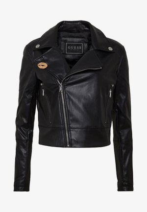 NATALIA  - Faux leather jacket - jet black