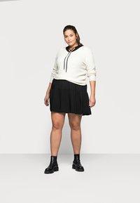 ONLY Carmakoma - CARNEWMARRAKESH 3/4 TUNIC DRESS - Day dress - black - 1