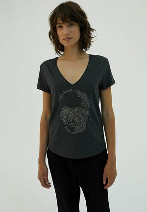 Print T-shirt - gris fonce