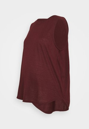 MATERNITY ACTIVE CURVE TANK - Toppe - mulberry