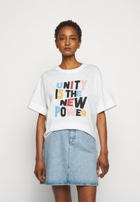 Claudie Pierlot - TRISTAN - Print T-shirt - white - 0