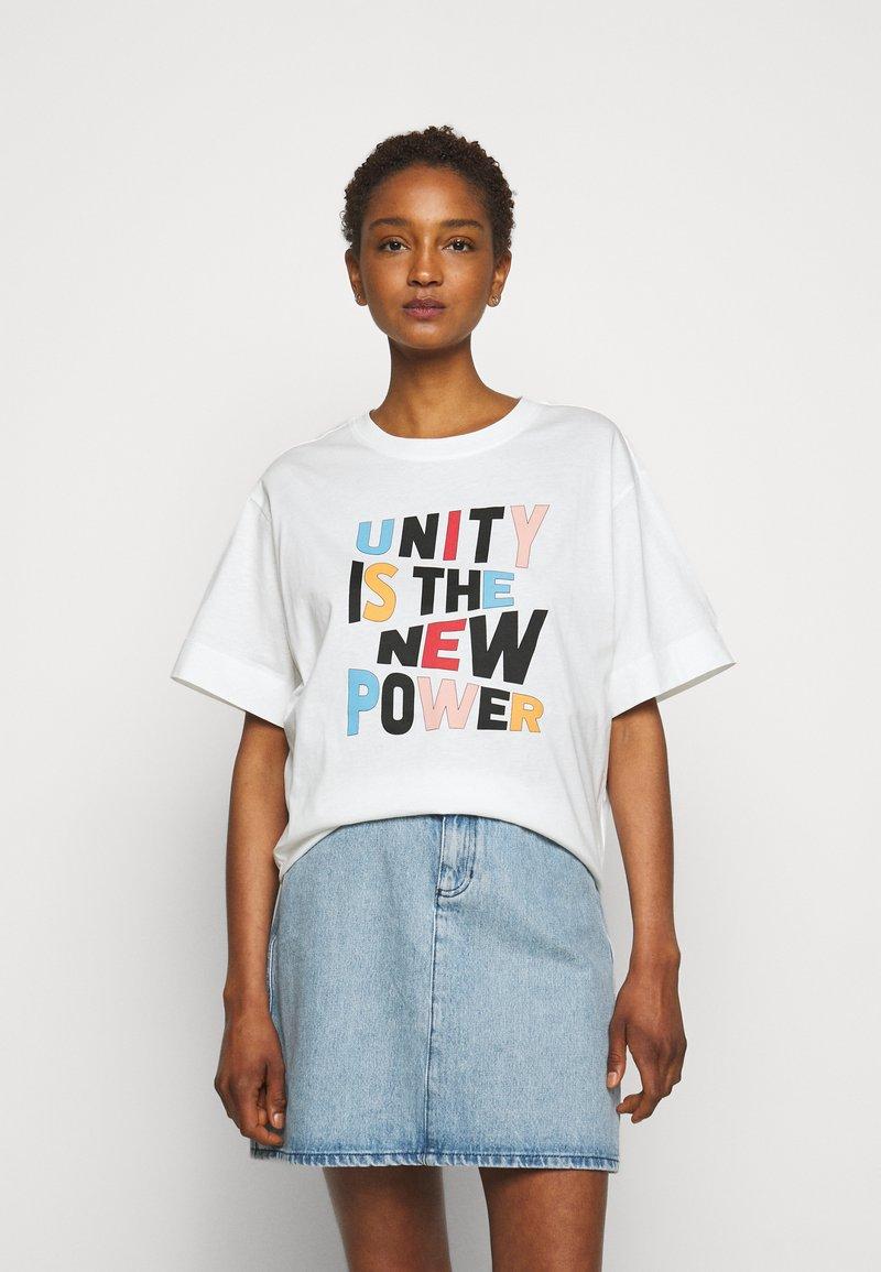 Claudie Pierlot - TRISTAN - Print T-shirt - white