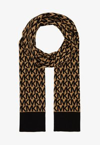 MICHAEL Michael Kors - ALLOVER SCARF - Szal - dark camel/ black - 1