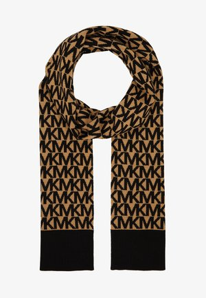 ALLOVER SCARF - Sjal - dark camel/ black