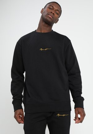 ESSENTIAL REGULAR SIGNATURE - Felpa - black