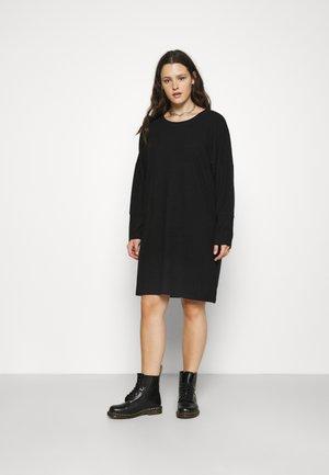 NMCITY BAT SHORT DRESS - Žerzejové šaty - black