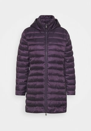 Winter coat - purple velvet
