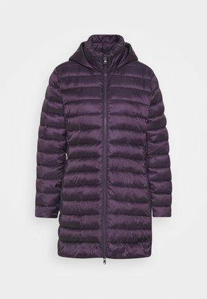 Zimní kabát - purple velvet