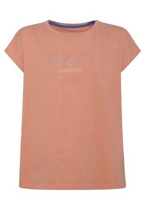 NURIA - Print T-shirt - fresh orange