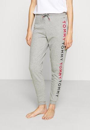 EMBROIDERY TRACK PANT - Pyjama bottoms - medium grey heather