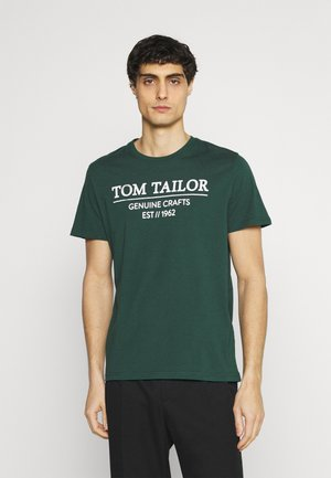 T-shirt med print - dark pine fiorest