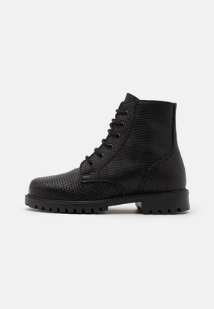 KEFF PATERN BOOTS UNISEX - Lace-up ankle boots - black