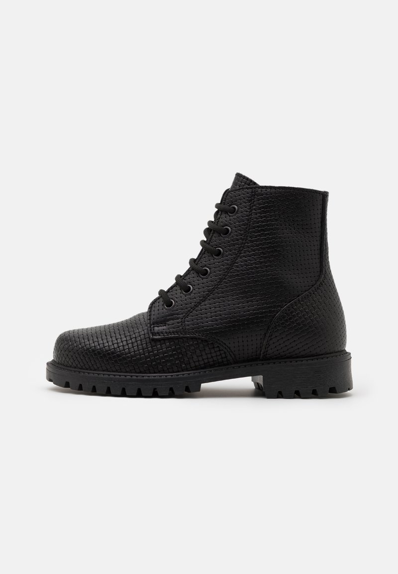 DECHASE - KEFF PATERN BOOTS UNISEX - Lace-up ankle boots - black