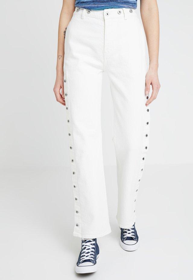 UNION TROUSER - Jeans straight leg - white denim