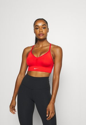 INDY SEAMLESS BRA - Light support sports bra - chile red/white