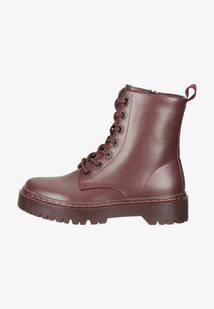 Lace-up ankle boots - bordeaux