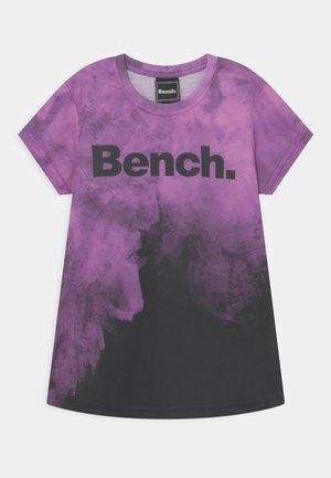 MICAELA - T-shirt print - purple/black