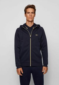 BOSS - Zip-up hoodie - dark blue - 0