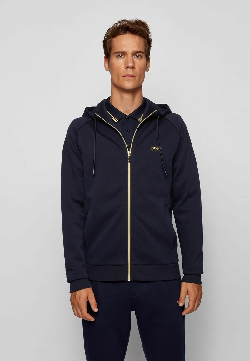 BOSS - Zip-up hoodie - dark blue