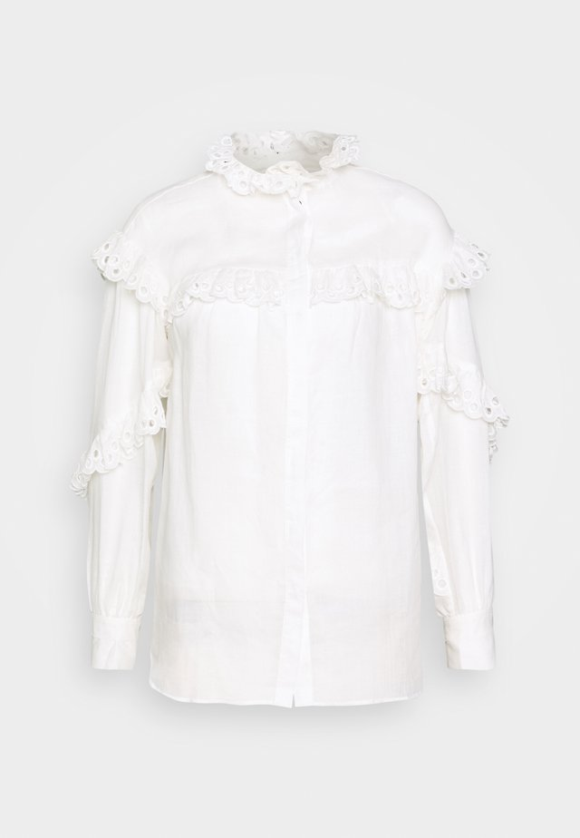 DECO - Button-down blouse - cloud dancer