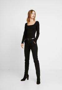 Glamorous - BODYSUIT 2 PACK - Long sleeved top - silver/black - 1