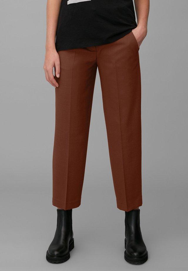 Trousers - burnt brick