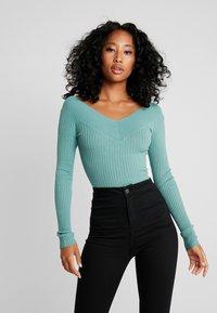 Even&Odd - Stickad tröja - turquoise - 0