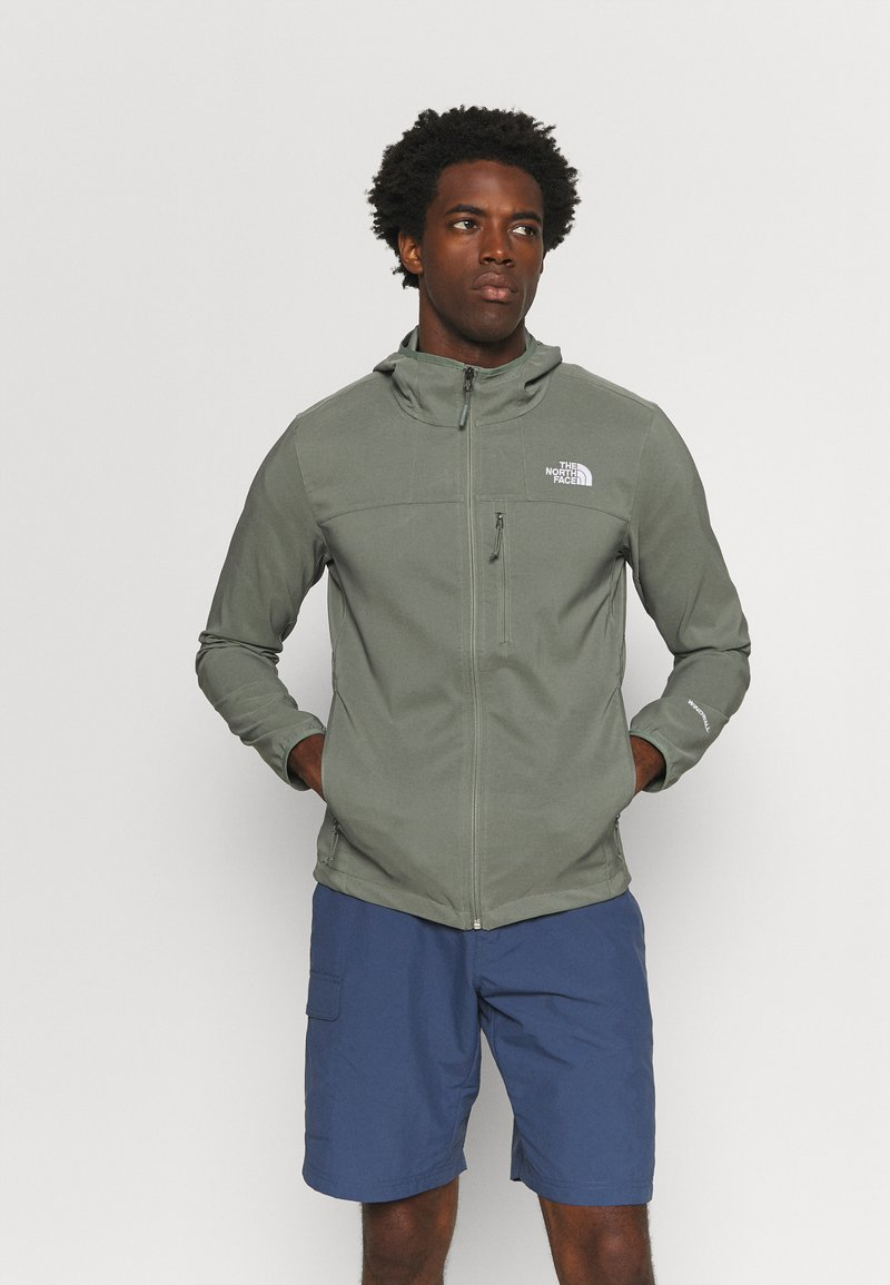 The North Face - NIMBLE HOODIE - Soft shell jacket - agave green