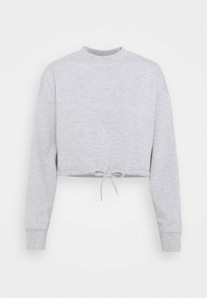 TIE HEM CROPPED SWEATSHIRT - Sweatshirts - light grey