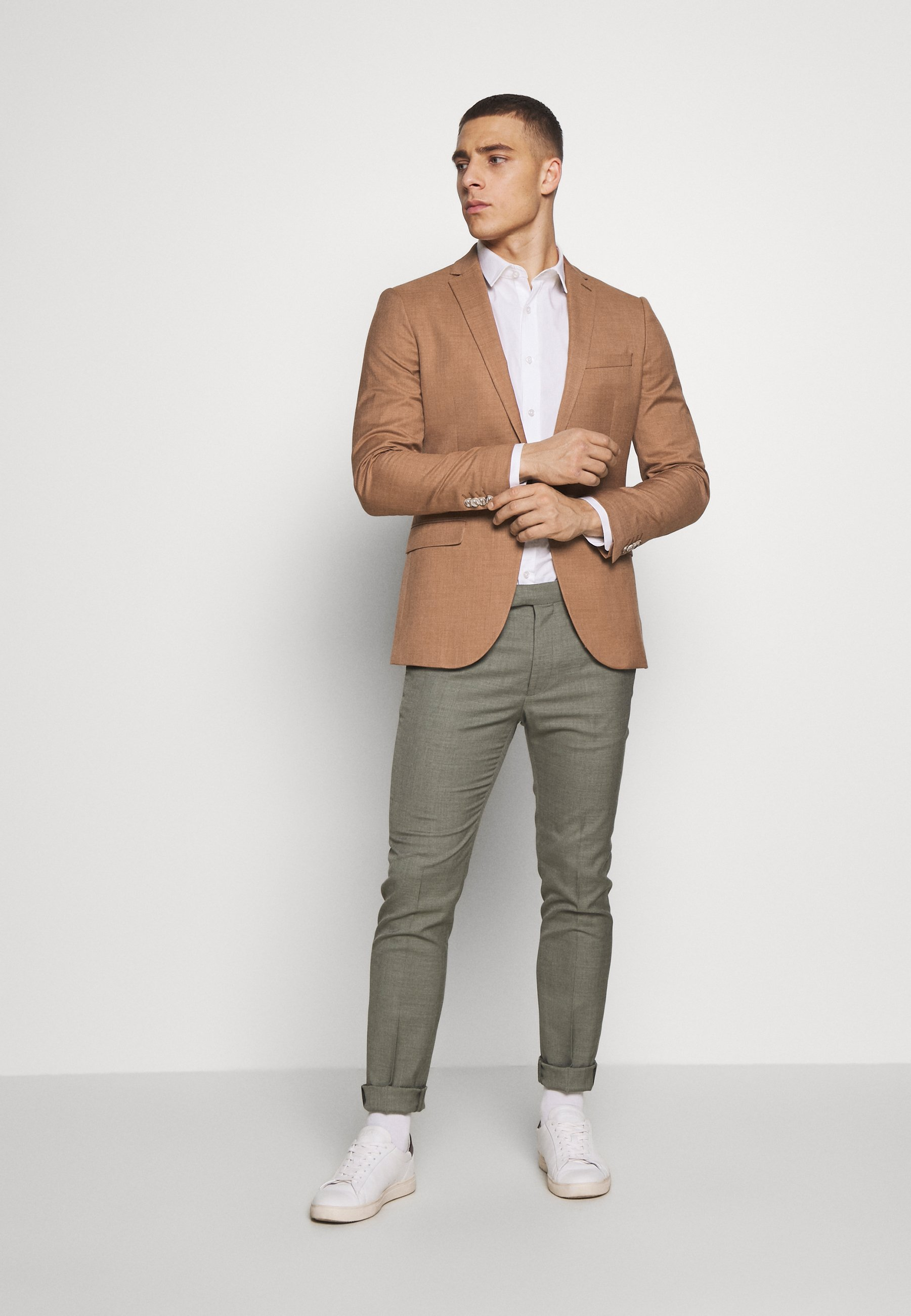 Topman CAFÉ - Veste de costume - brown