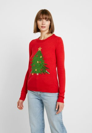 VMSHINY CHRISTMAS TREE - Strikpullover /Striktrøjer - chinese red