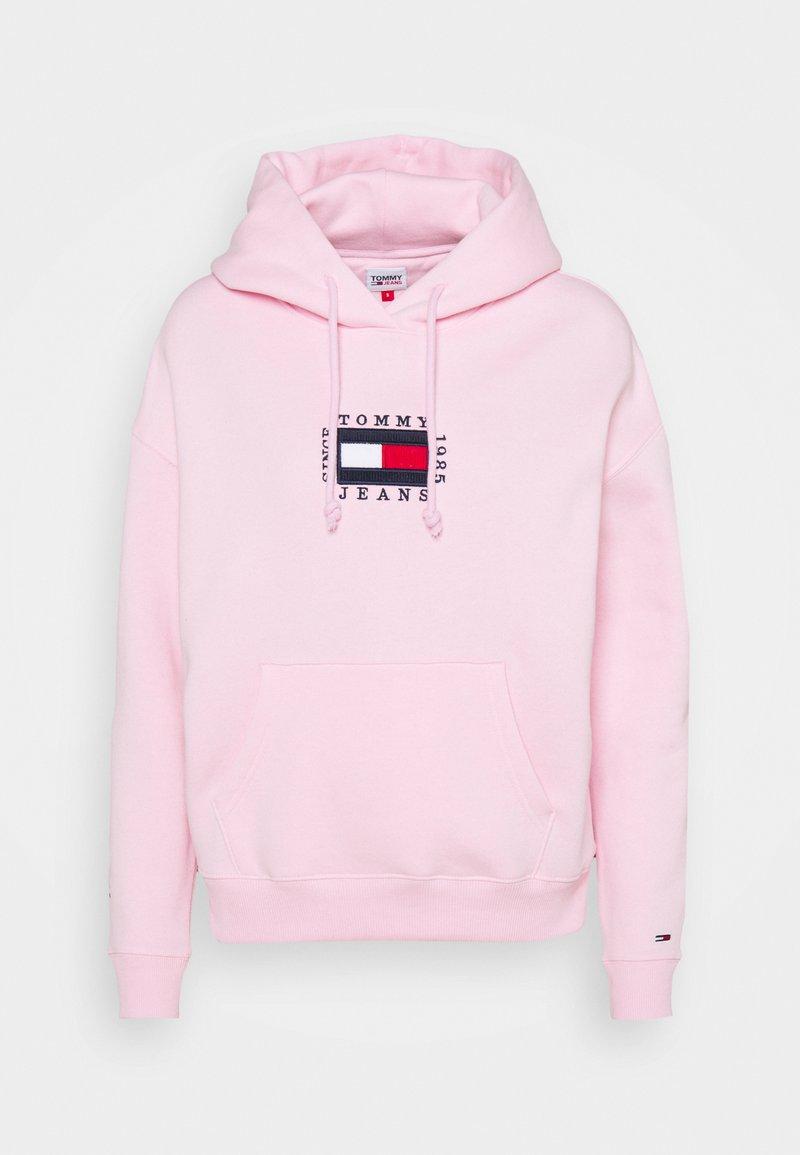Tommy Jeans - BOX FLAG HOODIE - Sweat à capuche - romantic pink